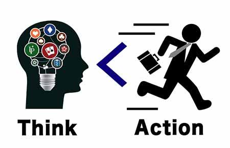 考えるよりも行動