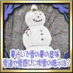 夢占いで雪の夢の意味!雪道の運転や雪遊びに吹雪の暗示は?