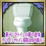 夢占いでトイレの夢の意味!汚いトイレやトイレ掃除は何の暗示?